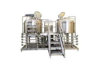 2HL Food Grade Pilot Brewing Equipment  SS304 Fabrication With 50MM PU Insulation